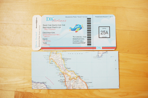 Airplane Boarding Pass and Envelope