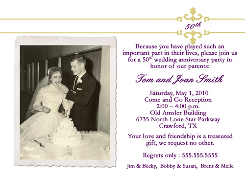 50th wedding anniversary invitations | nounces, Wedding invitations